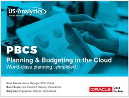 Oracle Planning Budgeting Cloud Demo